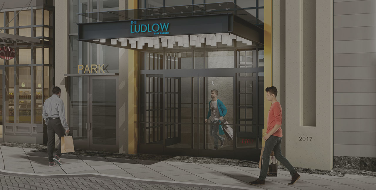 Main entrance to The Ludlow - East Market lobby